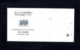 Obálka 140. výročí vlp. – dlouhá, 1991 (č.5)