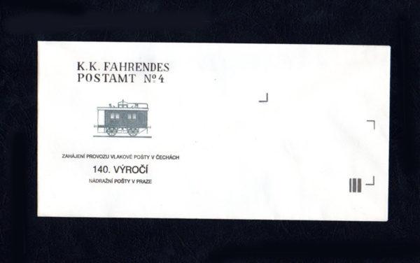 Obálka 140.výročí vlp. – dlouhá, 1991 (č.5)