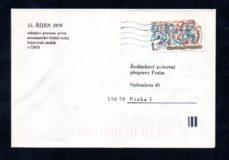 Obálka zahájení provozu první automatické třídící linky, 15.10.1979, Praha 025 (č.12)